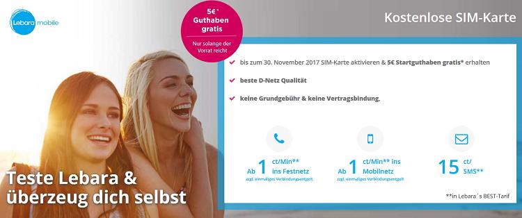 TOP! Gratis Sim Karte im Telekom Netz mit 5€ Startguthaben bestellen