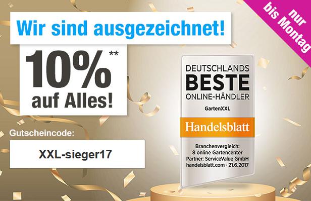 10% Rabatt auf alles bei GartenXXL  z.B. LECO Schaukelstuhl für 58,46€ (statt 85€)