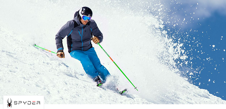 Spyder Sale mit Ski Angeboten bei vente privee   z.B. Steppjacke Geared für 79,99€ (statt 119€)