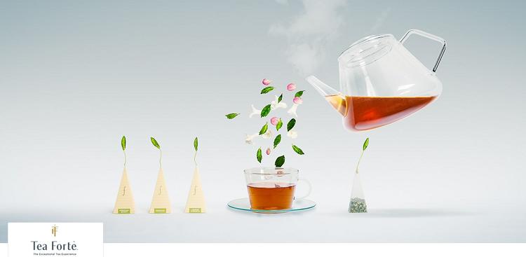 Tea Forte   verschiedene Teesorten und Zubehör bei Vente Privee   z.B. 48 Teepyramiden ab 25,90€ (statt 42€)