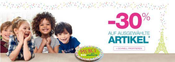 Vertbaudet mit 30% auf ausgewählte Kinder Fashion + 10€ Gutschein ab 50€ + VSK  frei!