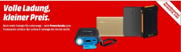 Media Markt Powerbank Aktion   z.B. 3er Pack REALPOWER PB T1 für nur 5€