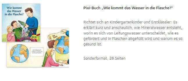 """Pixi Buch """"Wie kommt das Wasser in die Flasche?"""" gratis"""