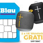 Ultimate Ears Wonderboom (Wert 104€) + Blau Allnet & SMS Flat & 3GB LTE für 9,99€ mtl.