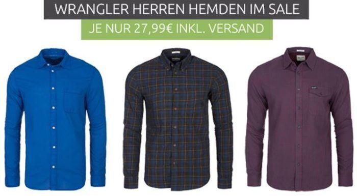 Wrangler Herren Hemden Sale   Freizeit und Business Hemden ab 27,99€