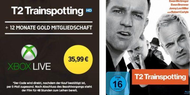 12 Monate Xbox Live Gold +T2 Trainspotting  HD Stream für 35,99€