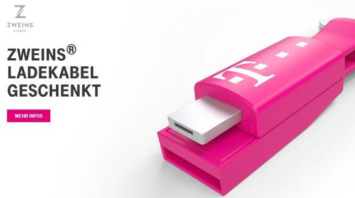 Nur für Telekom Kunden: Kostenloses Ladekabel (Lightning und microUSB) als Schlüsselanhänger