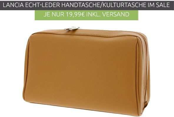Lancia Beauty Handbag   Echtleder Kultur Tasche für 19€