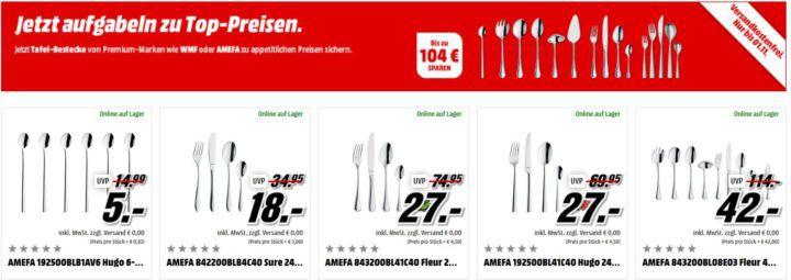 Media Markt: günstige Bestecksets bis Mitternacht ab 18€   z.B. WMF Bellano 30 Teile für 49€