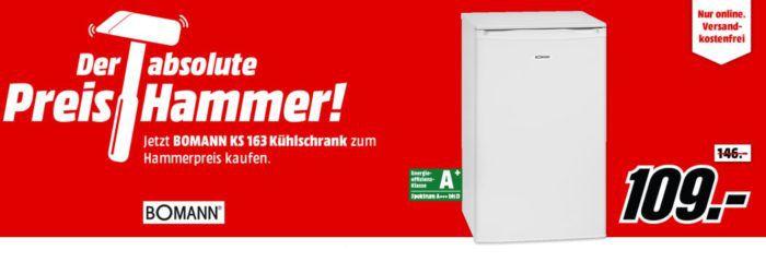 Bomann KS 163 Kühlschrank mit A+ für 109€ (statt 161€)