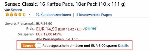 ABGELAUFEN! 10er Pack Senseo Classic Pads (160 Pads!) für 8,16€