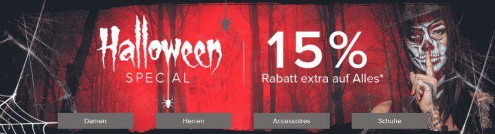 Top! dress for less Halloween Special mit 15% extra Rabatt auf alles bis Mitternacht!   Wrangler Jeans ab 33,92€
