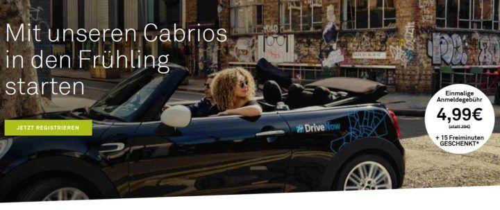Drive Now   für Neukunden für 4,99€ + 15 Freiminuten (statt 29€)