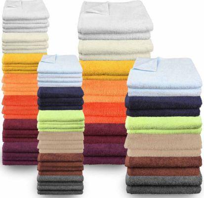 4 Handtücher + 2 Duschtücher 100% Baumwolle 13 verschiedene Farben für 19,95€