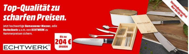 Media Markt Echtwerk Sale: günstige Messer, Besteck & Co. ab 22€