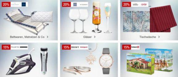 Galeria Kaufhof Sonntagsangebote   z.B. 20% auf ausgewählte Herren & Kinderfashion
