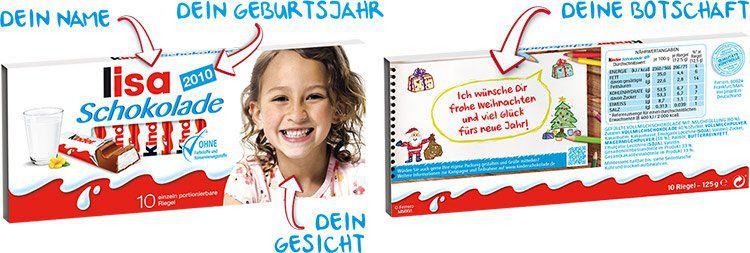 Gratis: Dein Gesicht auf kinder Schokolade