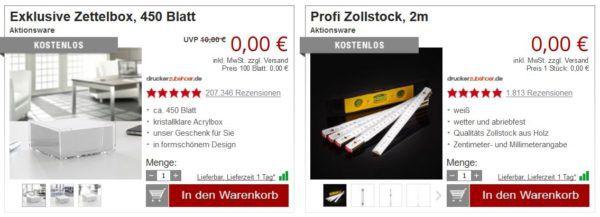 Druckerzubehör: VR Brille + 2 gartis Artikel für 2,97€ + VSK