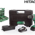 Hitachi DV 18 DV18DGL / JM Schlagbohrschrauber 18 V im Koffer + 2x Akkus + Bit- und Bohr-Set für 165,90€ (statt 180€)
