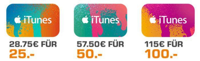iTunes Guthaben mit 15% extra Guthaben bei Saturns Black Week