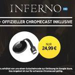 """Google Chromecast 2 + HD Stream:  """"Inferno"""" für nur 22,99€"""