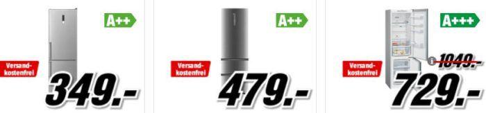 Media Markt Kühlkombinationen Preishammer: z.B. BOMANN KG188IX für nur 349€