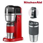 KitchenAid (5KCM0402) Ein-Tassen-Kaffeemaschine inkl. 2 Reisebecher in Schwarz oder Rot für je 65,90€ (statt 77€)