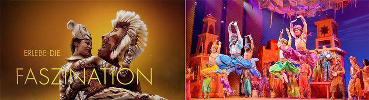 Nur noch heute! 2 Musical Tickets für 99€ für Aladdin, Tarzan, Mary Poppins & König der Löwen