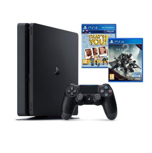 Playstation 4 Slim mit 1TB + 2. Controller + Destiny 2 + Thats You für 245€ (statt 322€)