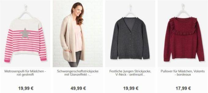 Vertbaudet mit 15% Rabatt auf Pullover & Strickjacken + 10€ Gutschein