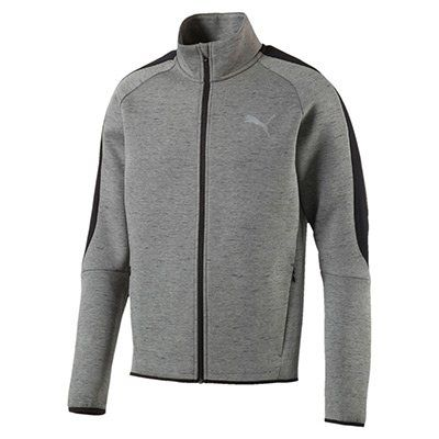 PUMA Active Herren Evostripe SpaceKnit Jacke in Grau für 28€ (statt ~40€)
