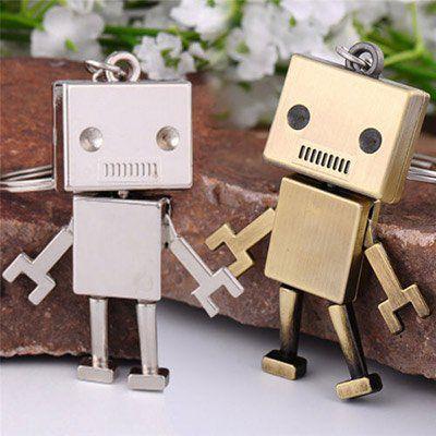 Schlüsselanhänger Roboter in Bronze oder Silber für je 1,12€