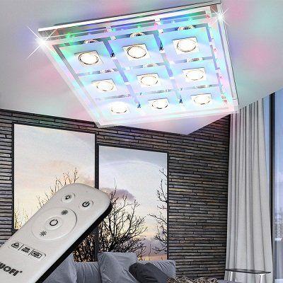 WOFI LED Deckenleuchte mit 9 x 3 Watt und RGB Beleuchtung für 54,90€ (statt 68€)