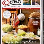 Servus in Stadt & Land Jahresabo für 46,90€ inkl. Servus Kochbuch Band 2 (Wert 30€)