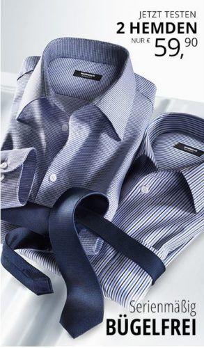 2 bügelfreie Walbusch Hemden für 65,85€