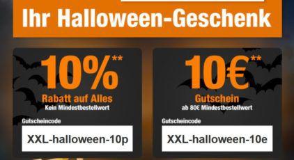Garten XXL mit 10% oder 10€ Halloween Rabatt   günstiges Werkzeug & Co.