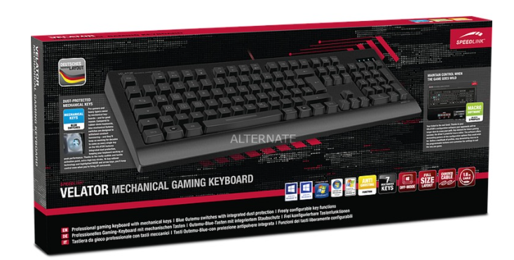 Speedlink VELATOR Mechanical Gaming Keyboard ab 21,48€ (statt 31€)
