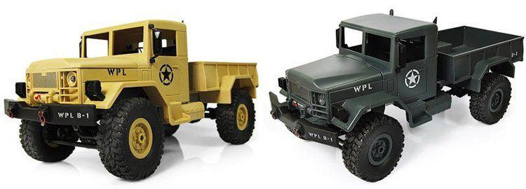 WPL B 1   1:16 Mini 4x4 Off Road RC Militär Truck mit LEDs für 25,63€