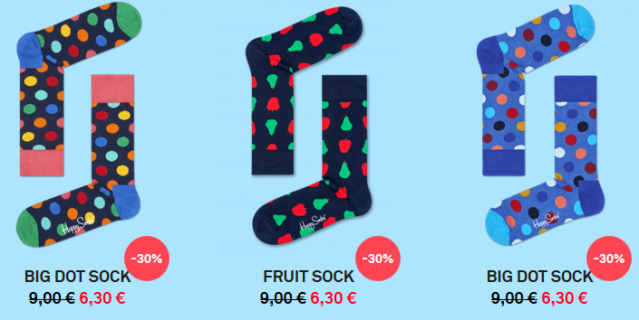 Happy Socks Sale mit 35% Rabatt + VSK frei