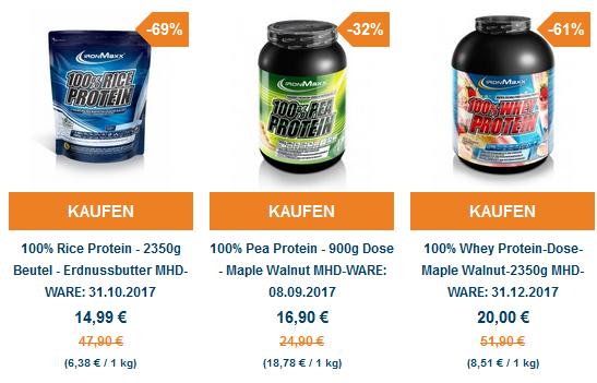 Ironmaxx Sale mit bis zu 69% auf Proteine (MHD Ware)