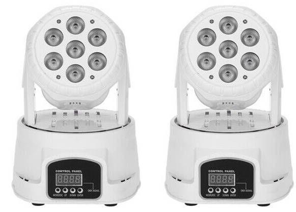 2er Pack Lixada 105W 7 LED DMX 512 Mini Moving Head mit 9/14 Kanal für 78,45€ (statt 90€)