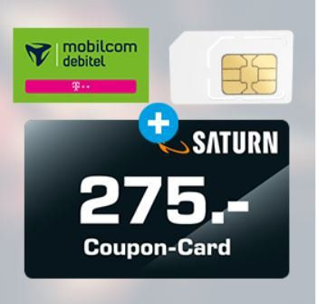 Telekom 10GB LTE Datentarif für 19,99€ mtl. + 275€ SATURN Gutschein
