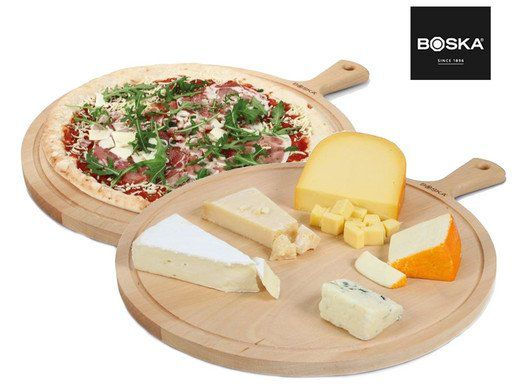 2x Boska 358115 Pizzabrett   Servierbrett Amigo XL aus Buchenholz für 33,90€ (statt 59€)