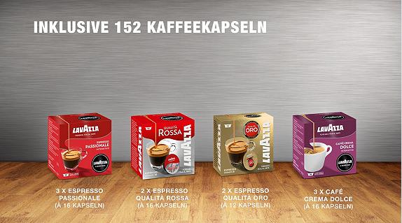LAVAZZA Jolie Plus   Kaffeekapselmaschine + Zubehör & 152 Kapseln für 87€ bei Vente Privee