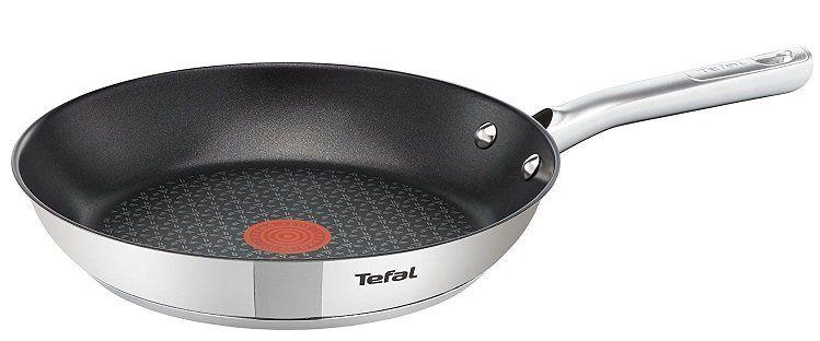 Tefal A70406 Duetto   Edelstahlpfanne 28 cm mit Thermo Spot für 23,99€