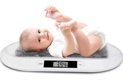 Monzana Babywaage mit Abschalt  und Tarierfunktion inkl. Batterien für 24,95€ (statt 30€)