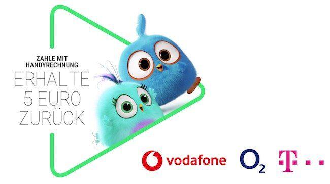 5€ Cashback beim Google Play Store   nur für Telekom, o2 und Vodafone Kunden