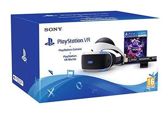 PlayStation 4 VR + Kamera + VR Worlds für 312,50€