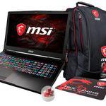 MSI GE63 7RD-005 Gaming Notebook mit GTX 1050 Ti + 3 Jahre Garantie + Rucksack für 1.289€ (statt 1.520€)