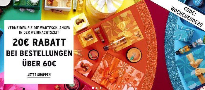 The Body Shop: 20€ Gutschein ab 60€ Bestellwert   günstige Kosmetik Artikel bis Mitternacht